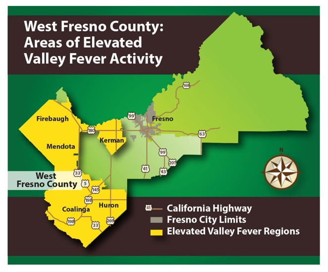 Valley Fever Map