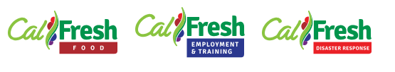 CalFresh has three new logos, for the food component, Employment and training and Disaster Response