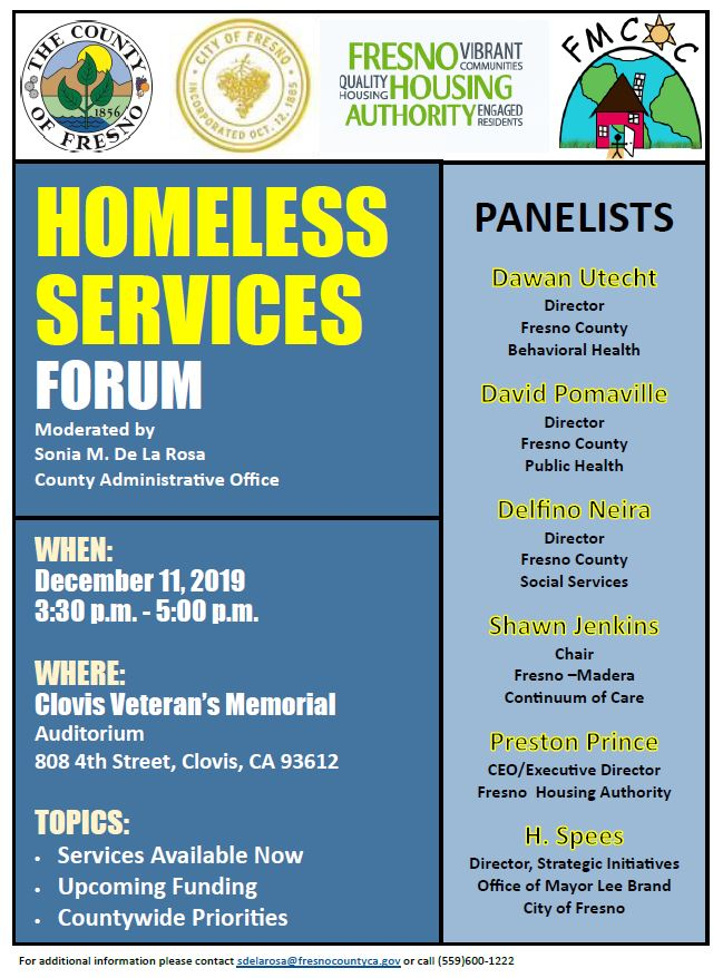 Homeless Services Forum Details