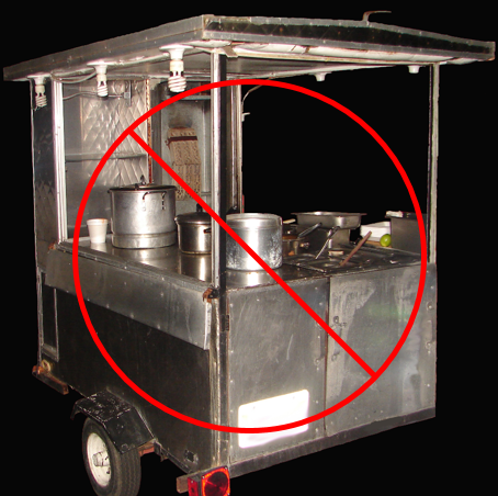 Illegal Food Vendor Cart