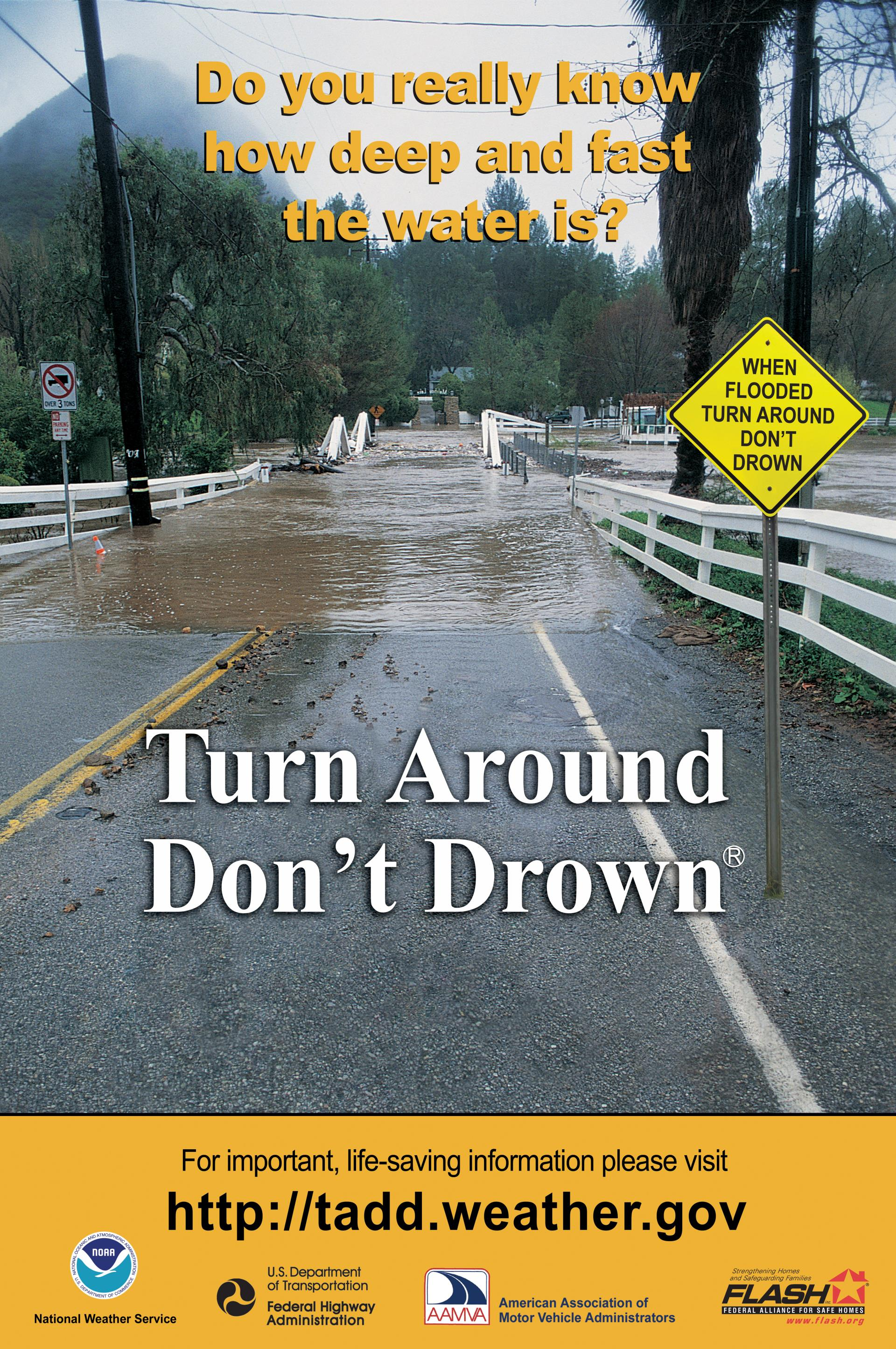 Turn Around Don't Drown Message